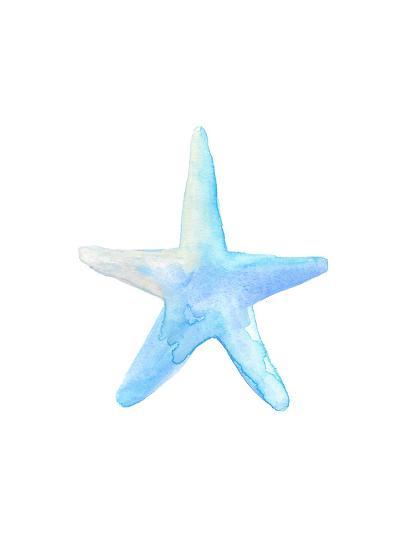 Blue Watercolor Starfish-Jetty Printables-Art Print