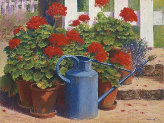 Blue Watering Can-Anthony Rule-Giclee Print