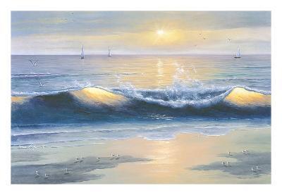 Blue Waves-Diane Romanello-Art Print