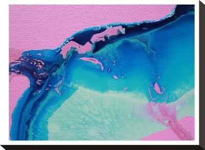 Blue Waves-Deb McNaughton-Stretched Canvas Print