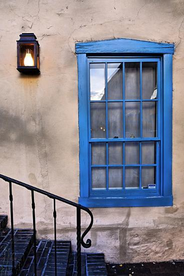 Blue Window, Santa Fe, New Mexico-George Oze-Photographic Print