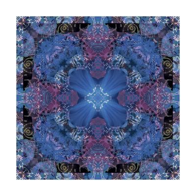 Blue Wonderland Mandala I-Alaya Gadeh-Art Print