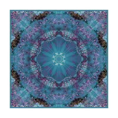 Blue Wonderland Mandala IV-Alaya Gadeh-Art Print