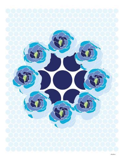 Blue Wreath-Avalisa-Art Print