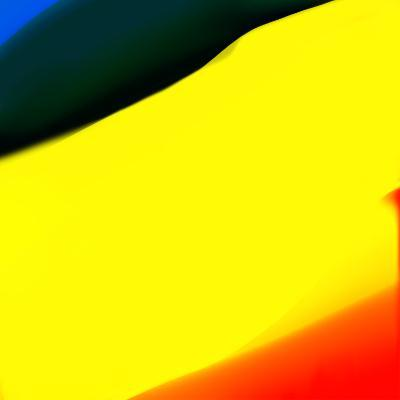 Blue Yellow And Red Abstract-Kasi Minami-Art Print
