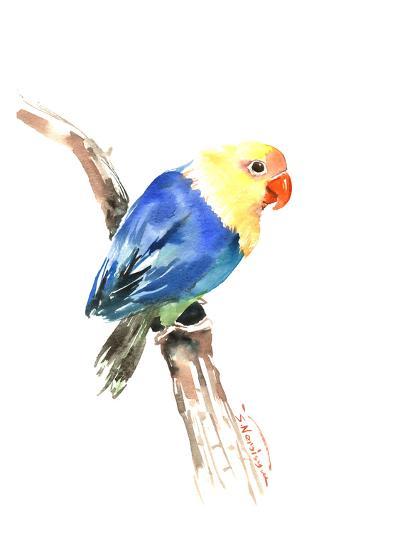 Blue Yellow Lovebird-Suren Nersisyan-Art Print