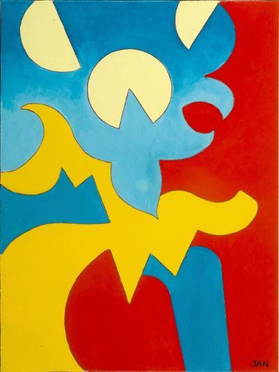 Blue-Yellow-Red, 2009-Jan Groneberg-Giclee Print