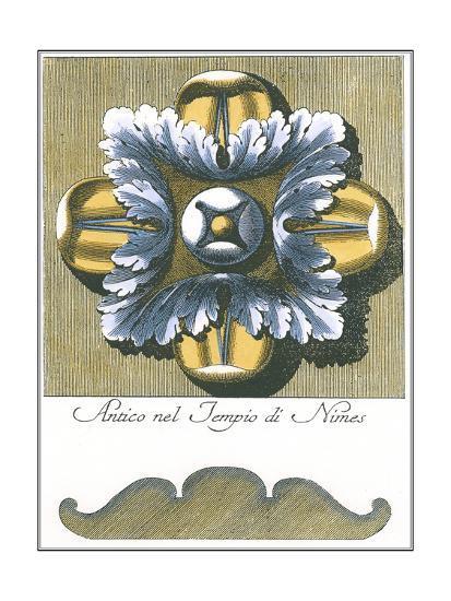 Blue & Yellow Rosette I-Vision Studio-Art Print
