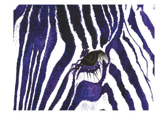 Blue Zebra-Simona Altavilla-Art Print