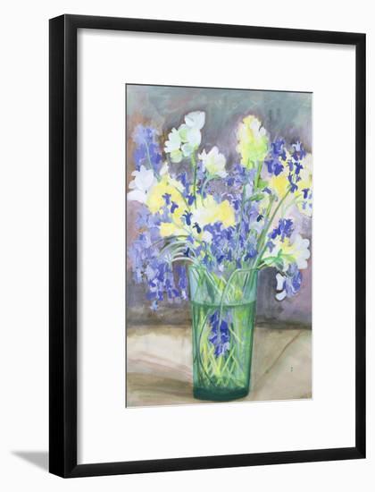 Bluebells and Yellow Flowers, 1994-Sophia Elliot-Framed Giclee Print