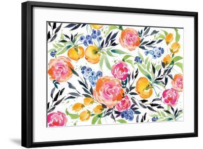 Blueberries Among Us-Kristy Rice-Framed Art Print
