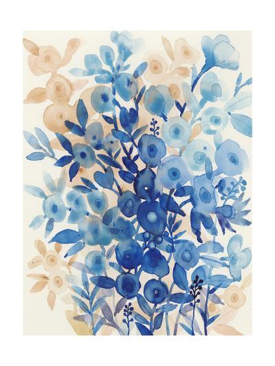 Blueberry Floral II-Tim OToole-Art Print