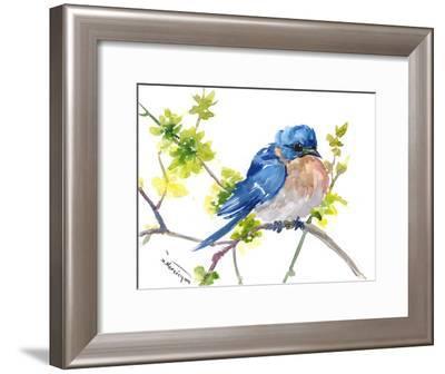 Bluebird 10-Suren Nersisyan-Framed Art Print