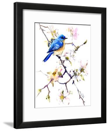 Bluebird 3-Suren Nersisyan-Framed Art Print