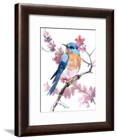 Bluebird 9-Suren Nersisyan-Framed Art Print