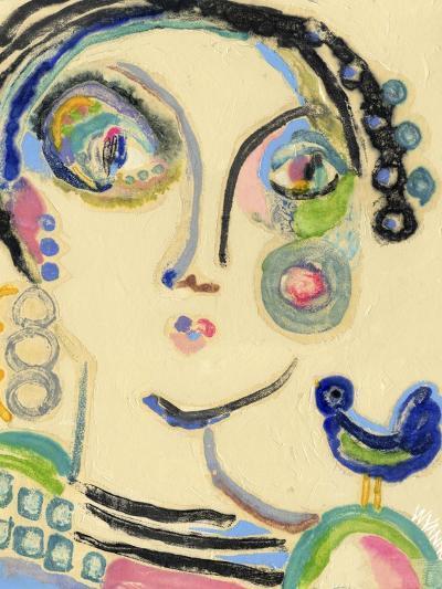 Bluebird on My Shoulder-Wyanne-Giclee Print