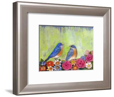 Bluebird Pair--Framed Art Print