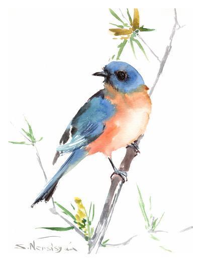 Bluebird-Suren Nersisyan-Art Print