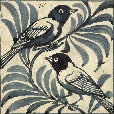Bluebirds (W/C on Paper)-William De Morgan-Giclee Print