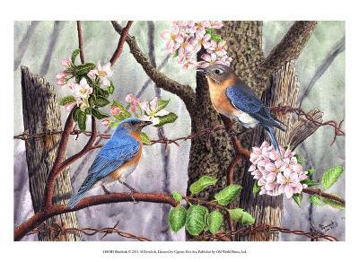 Bluebirds-Al Dornish-Art Print