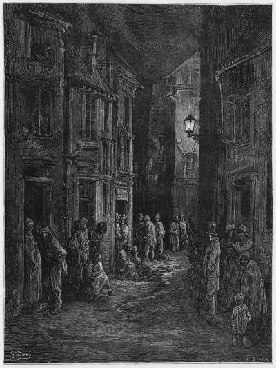 Bluegase-field, Illustration from 'Londres' by Louis Enault-Gustave Dor?-Giclee Print