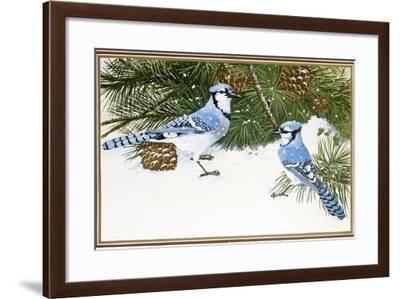 Bluejays-William Vanderdasson-Framed Giclee Print