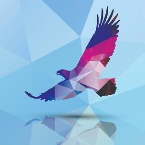 Geometric Polygonal Eagle, Pattern Design, Vector Illustration by BlueLela