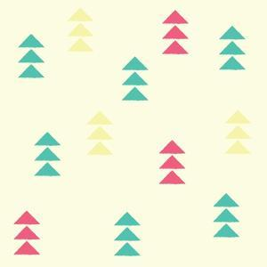 Geometric Triangles, Seamless Pattern, Vector Illustration by BlueLela