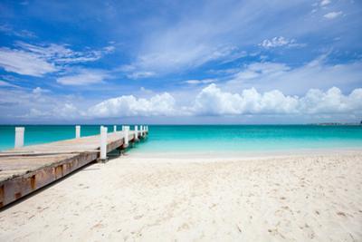 Beautiful Beach at Caribbean Providenciales Island in Turks and Caicos by BlueOrange Studio