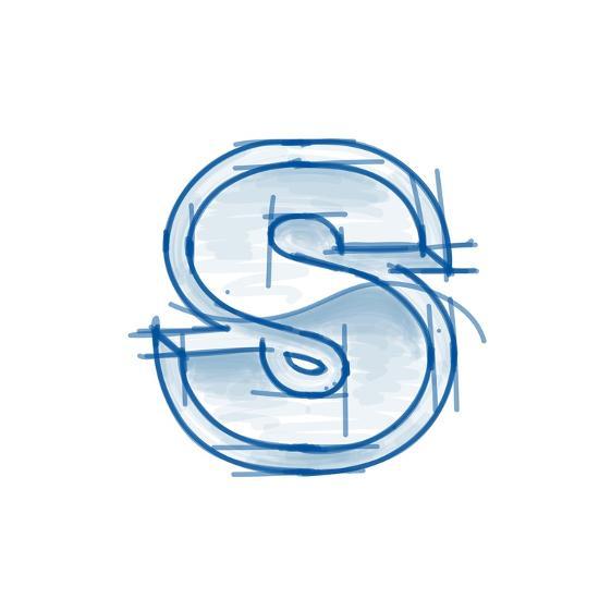Blueprint Font Sketch Letter S Marker Drawing Art Print By Vladimir Art Com