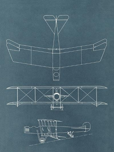 Blueprint For Early Biplane-Found Image Press-Art Print