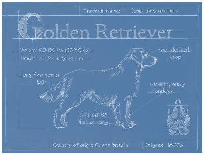 Blueprint Golden Retriever-Ethan Harper-Art Print