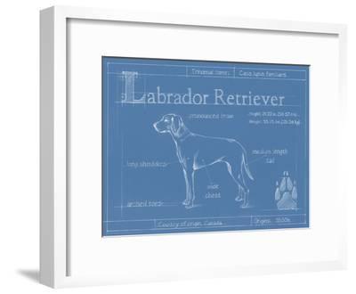 Blueprint Labrador Retriever-Ethan Harper-Framed Art Print
