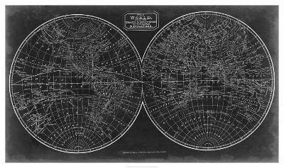 Blueprint of the World in Hemispheres-Vision Studio-Giclee Print
