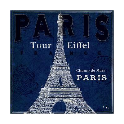 Blueprint Tour Eiffel-Sue Schlabach-Art Print