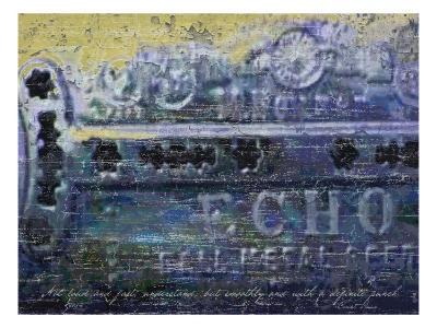 Blues Harp Vintage Harmonica-Lisa Weedn-Giclee Print