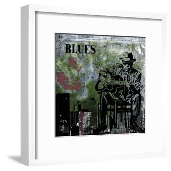 Blues II-Jean-François Dupuis-Framed Art Print