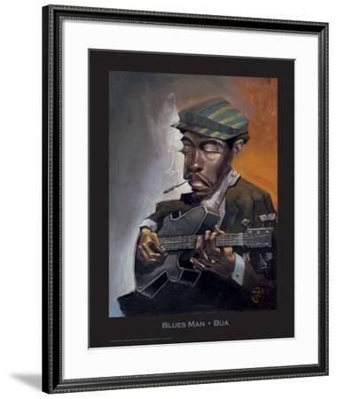 Blues Man-BUA-Framed Art Print