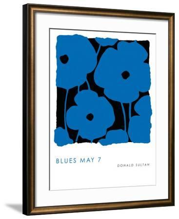 Blues, May 7 2009-Donald Sultan-Framed Art Print