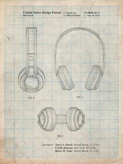 Bluetooth Headphones Patent-Cole Borders-Art Print