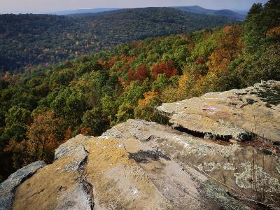 Bluff, Petit Jean State Park, Arkansas, USA-Charles Gurche-Photographic Print
