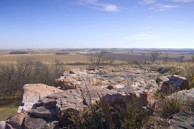 Bluffs and beyond at Blue Mounds State Park-jrferrermn-Photographic Print