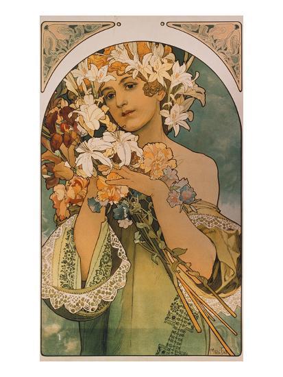 Blume, 1897-Alphonse Mucha-Giclee Print
