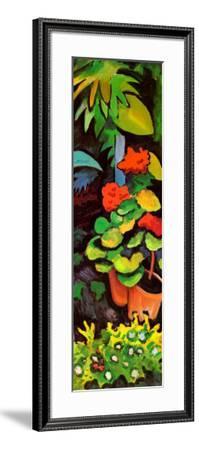 Blumen im Garten (detail)-Auguste Macke-Framed Art Print