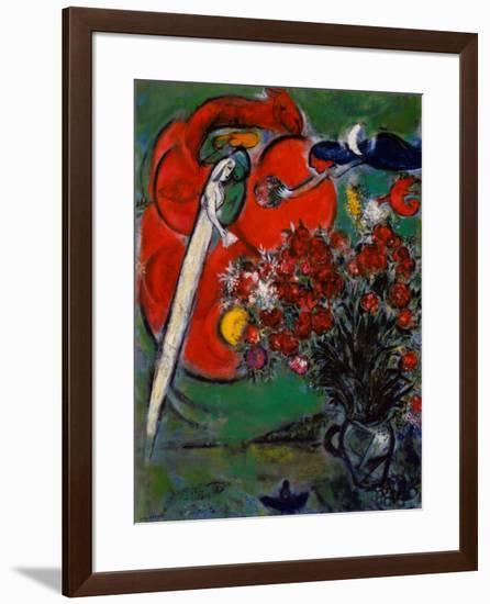 Blumenstilleben St.Jean Cap Ferrat, 1956-Marc Chagall-Framed Art Print