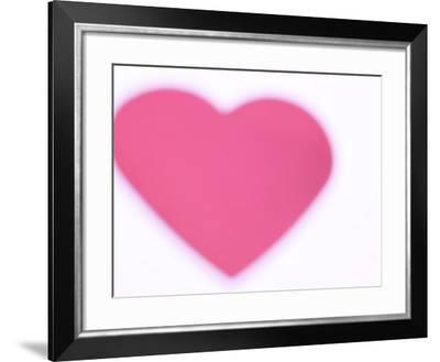 Blurred and Decorative Red Heart--Framed Photographic Print