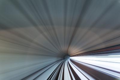 Blurred View of Subway Tunnel, Kuala Lumpur, Malaysia-Paul Souders-Photographic Print