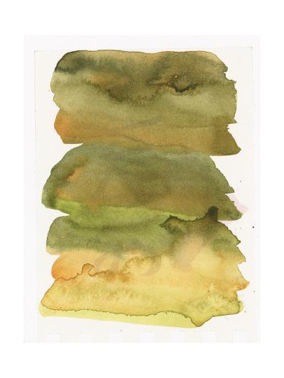 Blurry Green Watercolor Texture--Art Print