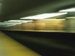 Blurry Streaks of Urban Lights