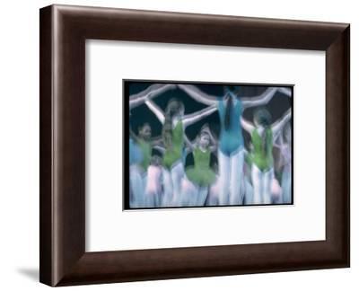 Blurry Timed Exposure of Children from New York City Ballet in Performance of Circus Polka-Gjon Mili-Framed Premium Photographic Print
